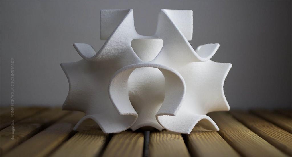 Escultura de azúcar impresa en 3D